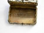 (SOLD) VICTORIAN SILVER VINAIGRETTE BIRM. 1842 PHEASANT / BIRD