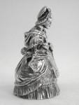 SCOTTISH SOLID SILVER LADY TABLE BELL EDINBURGH 1931