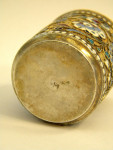 ANTIQUE RUSSIAN SILVER GILT & ENAMEL CUP / SHOT GLASS MOSCOW c. 1900