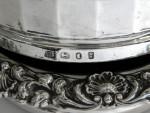 PAIR GEO. IV GEORGIAN SILVER WINE BOTTLE COASTERS SHEFIELD 1825 / 28