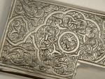 SOLID SILVER BUSINESS / CREDIT CARD CASE c. 1960 EGYPTIAN