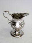 (SOLD) GEO. III GEORGIAN SILVER CREAM JUG / MILK JUG LONDON 1774