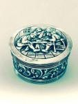 Dutch Vintage Solid Silver Box / Pill Box c. 1950