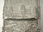 RARE VICTORIAN SILVER CASTLE TOP CARD CASE BIRM. 1854 CRYSTAL PALACE