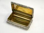 ANTIQUE VICTORIAN SOLID SILVER SNUFF BOX BIRMINGHAM 1842 NATHANIEL MILLS