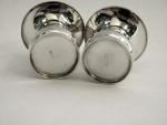 Pair Silver & Enamel Mushroom Salt & Pepper Shakers Danish c. 1950