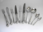 VINTAGE SOLID SILVER CUTLERY SET CANTEEN RATTAIL 120 PIECE 1973