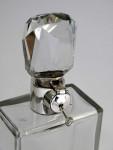 ART DECO SILVER & GLASS LOCKABLE DECANTER BIRM. 1923