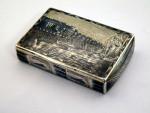 ANTIQUE RUSSIAN SILVER & NIELLO ENAMEL BOX MOSCOW 1839
