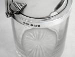 VINTAGE SOLID SILVER & GLASS HONEY / PRESERVE POT / JAM JAR BIRM. 1936