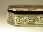 ANTIQUE AUSTRIAN SILVER & ENAMEL BOX AUSTRIA c. 1910