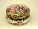 ANTIQUE SILVER GILT & VIENNESE ENAMEL BOX AUSTRIA C. 1890