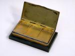 ANTIQUE GERMAN SILVER & ENAMEL STAMP BOX CONTINENTAL c. 1910