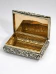 ANTIQUE VICTORIAN SILVER TABLE SNUFF BOX BIRMINGHAM 1837