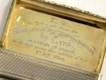 GEORGE IV GEORGIAN SILVER SNUFF BOX BIRMINGHAM 1826