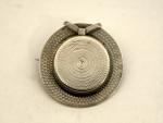 ANTIQUE EDWARDIAN SILVER BROOCH HAT / BOATER SHAPED c. 1900