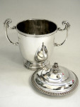SOLID SILVER TROPHY & LID / CUP & COVER LONDON 1925 Engravable