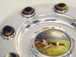 RARE SILVER & ROYAL WORCESTER PLATE / DISH BIRM. 1932