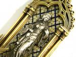 19 C FRENCH SILVER GILT & ENAMEL RELIQUARY / ETUI CASE C. 1850