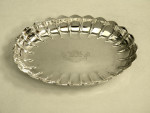PAIR VICTORIAN SILVER STRAWBERRY DISHES LONDON 1890