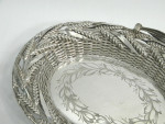 ANTIQUE VICTORIAN SILVER PLATED BASKET c. 1860