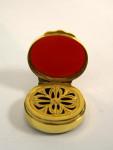VICTORIAN 15ct GOLD AND AGATE VINAIGRETTE c. 1840