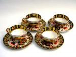 RARE VICTORIAN SILVER TEA SET / COFFEE SET & IMARI TEA CUPS 1894/5