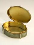 ANTIQUE STERLING SILVER & ENAMEL BOX VIENNA AUSTRIA c. 1900