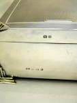 ART DECO SOLID SILVER CIGAR / CIGARETTE BOX BIRM. 1933