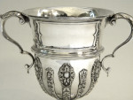 SOLID SILVER TROPHY / CUP SHEFFIELD 1922 ENGRAVABLE