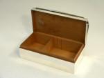 ART DECO SILVER CIGAR / CIGARETTE BOX SHEFFIELD 1935
