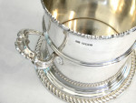ANTIQUE SILVER SIPHON STAND / BOTTLE COASTER SHEFFIELD 1906 SYPHON