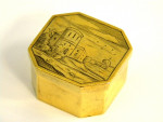 ANTIQUE GERMAN SILVER GILT BOX AUGSBURG GERMANY c. 1650