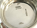 VINTAGE SOLID SILVER DISH / BOWL WITH GLASS LINER SHEFFIELD 1948