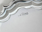 """LARGE SOLID SILVER 12.5"""" SALVER / TRAY SHEFFIELD 1947"""