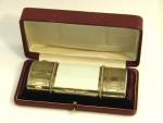 ANTIQUE CONTINENTAL SILVER, ENAMEL & DIAMOND COMPACT BOX c. 1890