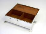 ARTS & CRAFTS SOLID SILVER CIGARETTE / CIGAR BOX SHEFFIELD 1933
