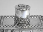 ANTIQUE DUTCH CONTINENTAL SILVER TEA CADDY BOX c. 1895 IMPORT MARK