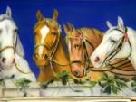 AUSTRIAN SOLID SILVER & ENAMEL BOX c. 1920 HORSES