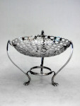 ANTIQUE SOLID SILVER DISH LONDON 1906
