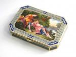 SILVER & ENAMEL BOX VIENNA AUSTRO - HUNGARY c. 1920