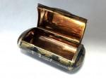 ANTIQUE RUSSIAN SILVER GILT & NIELLO ENAMEL SNUFF BOX MOSCOW c. 1860