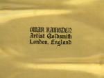 PAIR OMAR RAMSDEN ARTS & CRAFTS SOLID SILVER SPOONS LONDON 1937