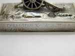 RARE VICTORIAN SILVER MENU / PLACE CARD HOLDER CANNON LONDON 1886