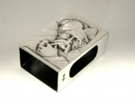 ANTIQUE RUSSIAN SOLID SILVER MATCH BOX HOLDER / COVER c. 1900