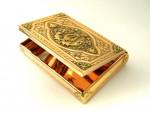 ANTIQUE SOLID GOLD BOX HANAU GERMANY c. 1830 4 COLOUR GOLD