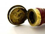 CONTINENTAL SILVER GILT & PORCELAIN LEG SNUFF BOX c. 1790