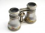 ANTIQUE VICTORIAN ENAMEL & METAL OPERA GLASS / BINOCULARS c. 1890
