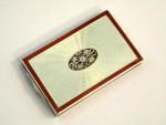 CONTINENTAL AUSTRIAN SOLID SILVER & ENAMEL BOX c. 1920