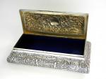 VICTORIAN SILVER JEWELLERY / JEWELRY BOX LONDON 1897